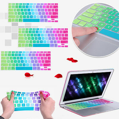 For MacBook Air Pro Retina 11 13 15 Rainbow Keyboard Protector Silicone Cover