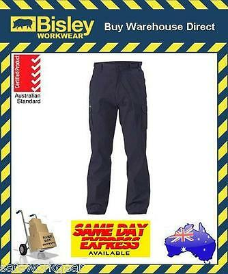 Bisley Workwear NAVY STOUT 8 Pocket Cargo Cotton Drill Work Trouser Pant BPC6007