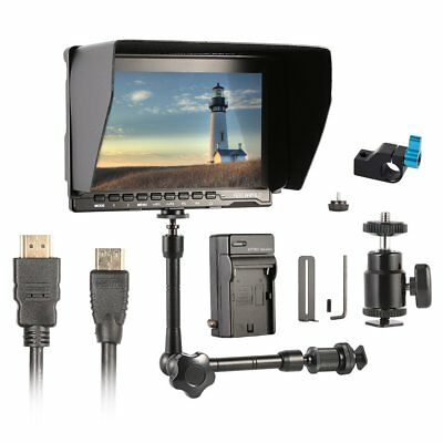 """Feelworld FW-759 7"""" ISP Slim HD Video Monitor +Magic Arm+Crap Clamp+Charger Kit"""