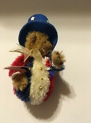 Deb Canham 4Th Of July Bear Dressed In Red/white/blue
