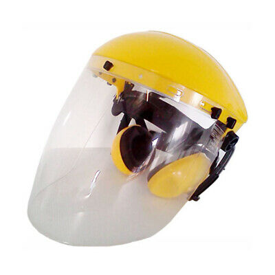 On Site Safety Brow Guard, 2mm Clear ANTI-FOG Visor Faceshield With Ear Muffs