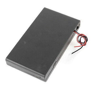 2 Pcs 8 x AA 12V Battery Holder Case Box Wired ON/OFF Switch w Cover FlyP