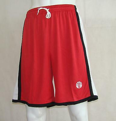 Basketball Shorts / By Starting 5 - red/black/white (Box 210) FREE P & P
