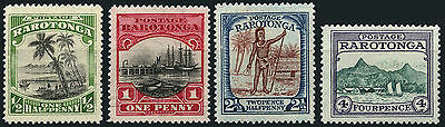 Cook Islands/Rorotonga SG 81-4 1924-27 Mint set of 4. Cat Value £35
