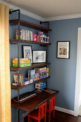 Industrial Pipe Shelves With Desk - LIMITED TIME SPECIAL!
