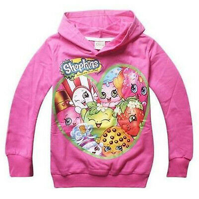 New 2016 Shopkins Girl's Hoodie Kids Clothing For Spring Fall & Winter