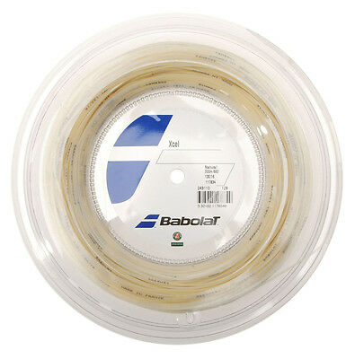 Babolat Xcel 200m String GAUGE 16/1.30 made in France Natural