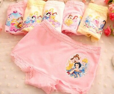 3PC Kids Girls Princess Cotton Underwear Undies shorts Panties Bottoms set 2-9yr