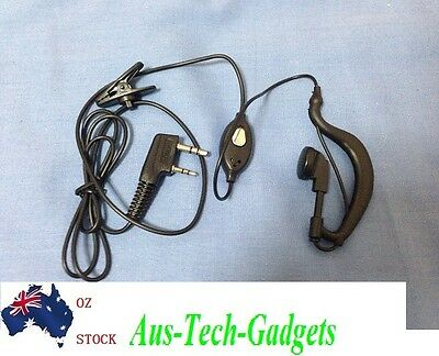 Security Headset Earpiece Earphone for Kenwood BaoFeng Walkie Talkie Radio 2-Pin
