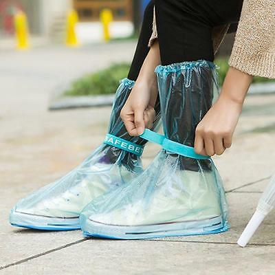 PVC Adjustable Rain Shoe Cover Overshoes Slip-Resistant Waterproof Raincoat Case