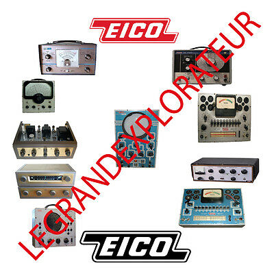 Ultimate EICO Repair Service, Maintenance & Owner Manuals (PDFs manual s on DVD)