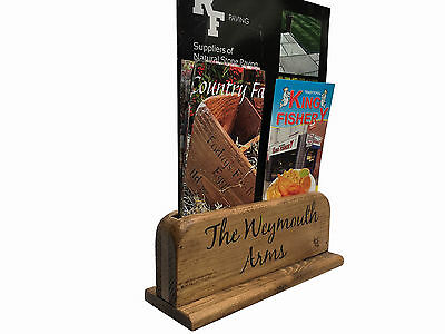 Lincoln Wooden Menu Holders A4 Size,restaurant/cafe,vintage Style,personalised