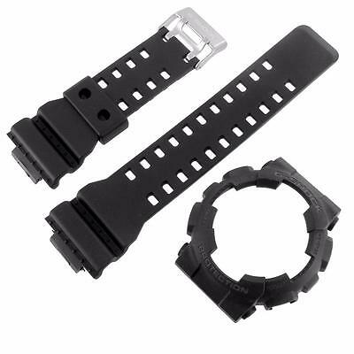 Black Bezel Matching Band For G Shock Watch GD100-1B Resin Silicone Strap 50MM