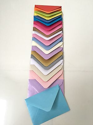 Quality C7 Coloured & Pearlised Envelopes For A7 Mini Card RSVP Wedding 81x113mm