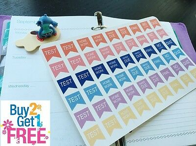 PP055 -- Small College Student Life Planner Stickers for Erin Condren (54pcs)
