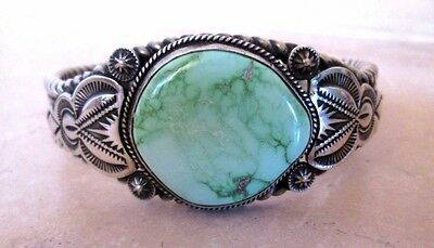 EJ Bighand Navajo Royston Turquoise Sterling Cuff