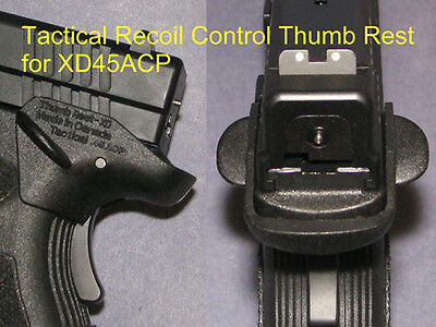 Recoil Control Thumb Rest Springfield XD45 -  fit holster