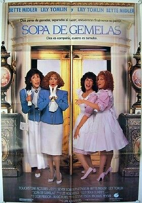 379 BIG BUSINESS 1sh '88 great image of identical twins Bette Midler & Lily Toml