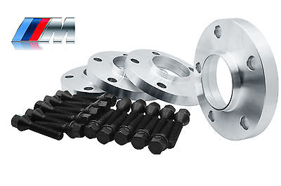 4 - BMW Wheel Spacers Staggered Kit (2) 15mm & (2) 20mm 5x120   W/20 Black Bolts