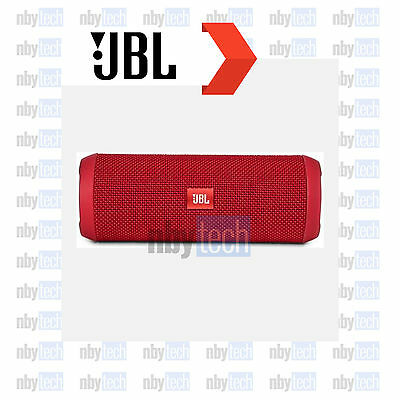 JBL Flip 3 Splashproof Portable Bluetooth Speaker Red