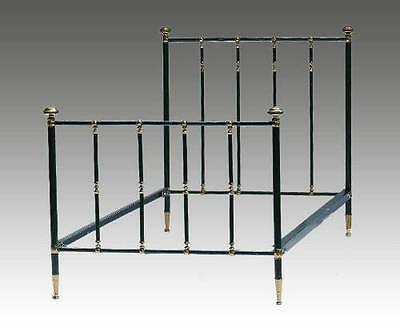 French Brass & Iron Single Bed early C20 Vintage