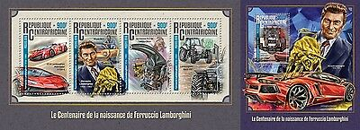 Z08 IMPERFORATED CA16205ab CENTRAL AFRICA 2016 Ferruccio Lamborghini MNH Set