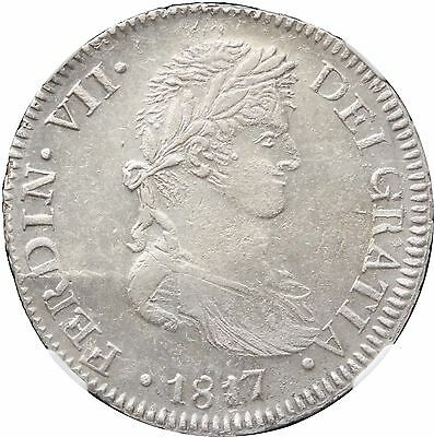 Mexico 8 Reales Zs 1817 A.G. Zacatecas, NGC MS62. War of Independence. KM# 111.5