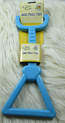 New Dog Puppy Pet Toy Rubber Pull Blue Colour Fun Exercise Solid 9 Inch Cat