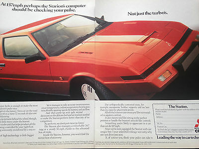 "MITSUBISHI STARION # 1984 MODEL # ORIGINAL AUTOMOTIVE ADVERT # 12"" x 9"""