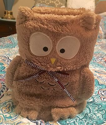 Animal Connection Owl Lovey Plush Security Blanket Baby Brown Bird Soft NEW