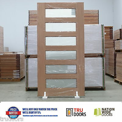 6 Lite French Solid Timber Doors Hardwood 820 -1200 2040/2340mm Entry Pivot