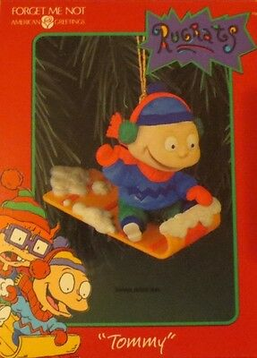 American Greetings Rugrats Tommy Sledding Ornament 1998 NEW