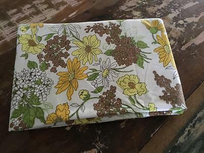 Vintage/ Retro Green/yellow/brown Floral  Fabric Material Single Sheet Buy Now