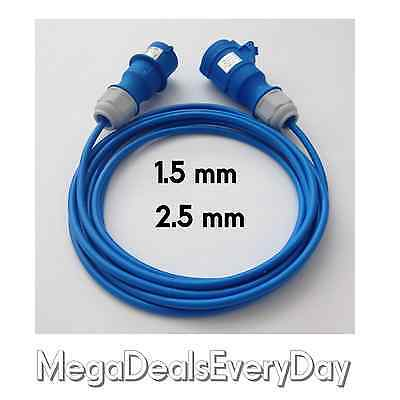 230v Caravan Hookup Extension Lead Motorhome Camping Mains Electric Socket Cable