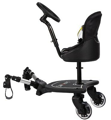 Easy X Rider Sit N Ride X2 Rider Universal Buggy Ride on Board & Seat Liner