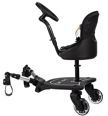 Mee-Go Sit N Ride X Model Universal Buggy Board with Seat & Steering Wheel