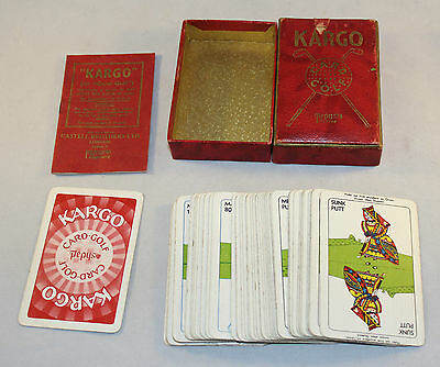 Antique Kargo Golf Card Game Pepys Castell Brothers Complete Boxed