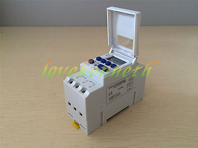 Digital LCD Programmable Timer 12/24/110/220V 16A Time Switch Control Relay