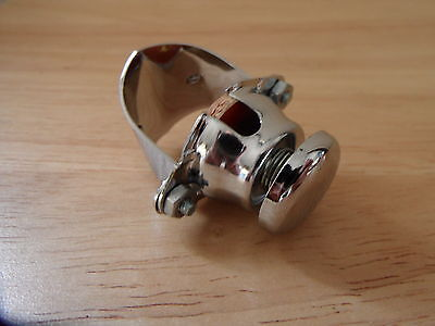76204 Horn Kill Switch Clamp On Type Chrome Button Bsa Norton Triumph Bike 7/8""