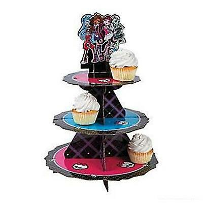 1 x MONSTER HIGH CUPCAKE STAND Girls Party Favours Treat Cup Cake Holder Kit