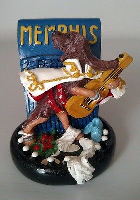 Memphis Bloodhound Coon Dog Figurine Icing 2002 by Claire's Collectible