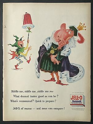 1956 Vintage Ad for Jell-O Riddle Me Ree