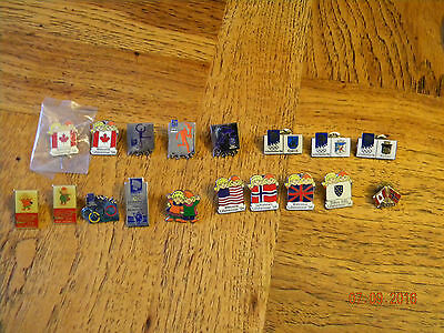 Collection of 18 Olympic Pins 1994 Lillehammer Alberta Canada Olympic Games