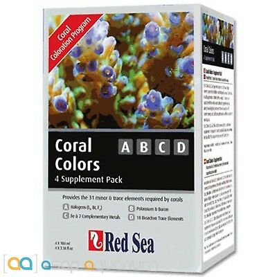 Red Sea Coral Colors ABCD 4-Supplement Pack (4 x 100ml)