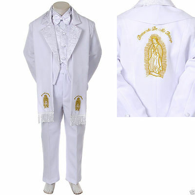 Baby Boy Christening Baptism/scarf Suit/6 pcs/ Size: S to 7>Gold Virgin Marry