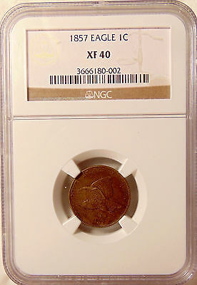 1857 Flying Eagle Cent - NGC XF40 - Sharp Looking Coin