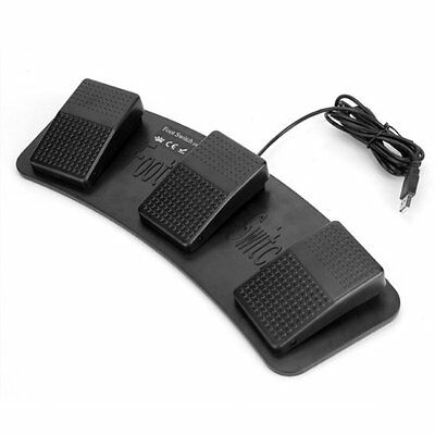 FS3-P USB Triple Foot Switch Pedal Control Keyboard Mouse Plastic FlyP