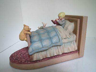Disney Classic Winnie the Pooh Christopher Robin in Bed Bookends by Charpente