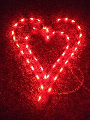 Double Heart Lighted Valentine Window Wall Decor