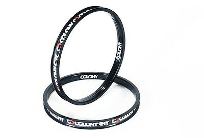 "Colony BMX - 1 x Contour Rim Black 20"" 36 Hole 490 grams"